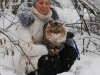 Фигаро и Ольга в снежном лесу